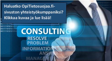 Haluatko OpiTietosuojaa.fi-sivuston yhteistyökumppaniksi?